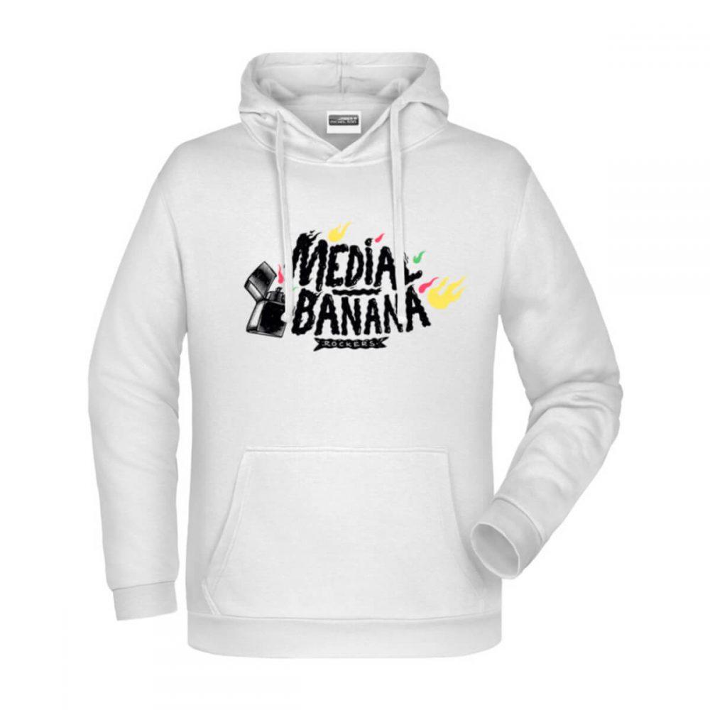 Pánska mikina Medial Banana Fyah Blaze biela