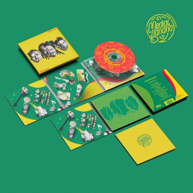 Medial Banana Nedotknuteľní rozložený cover albumu