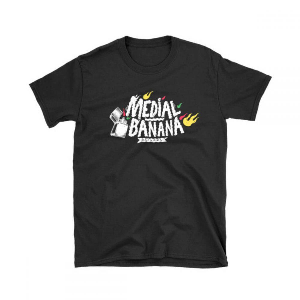 Pánske tričko Medial Banana Banana Blaze čierne