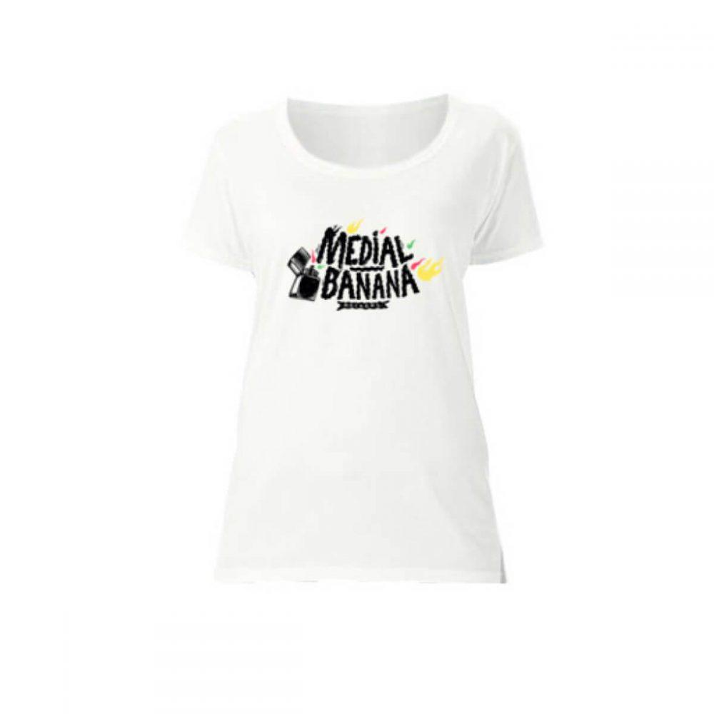 Dámske tričko Medial Banana Banana Blaze biele