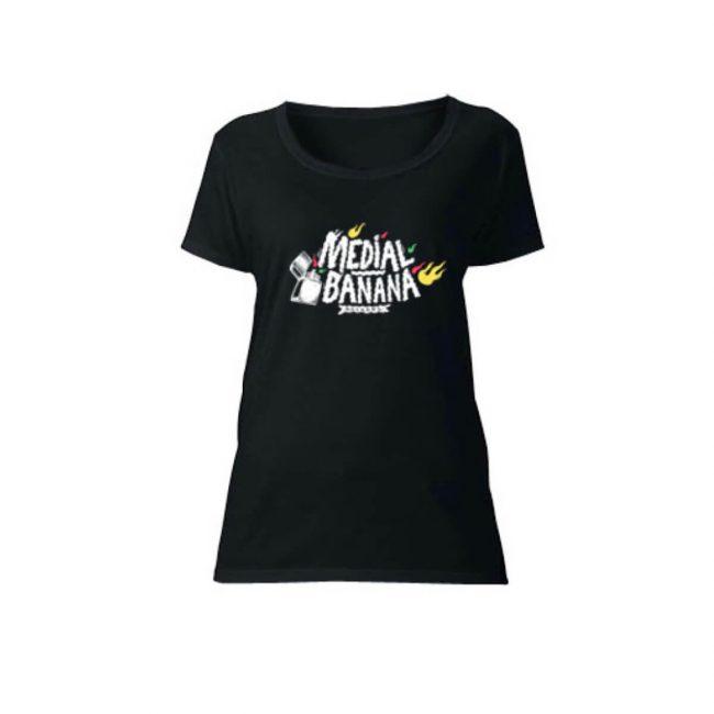 Dámske tričko Medial Banana Banana Blaze čierne