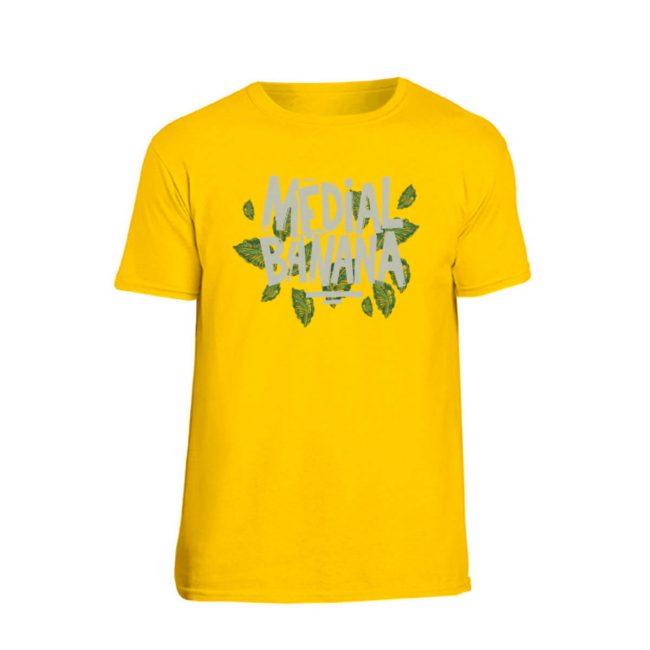 Pánske tričko Medial Banana Leafy žlté
