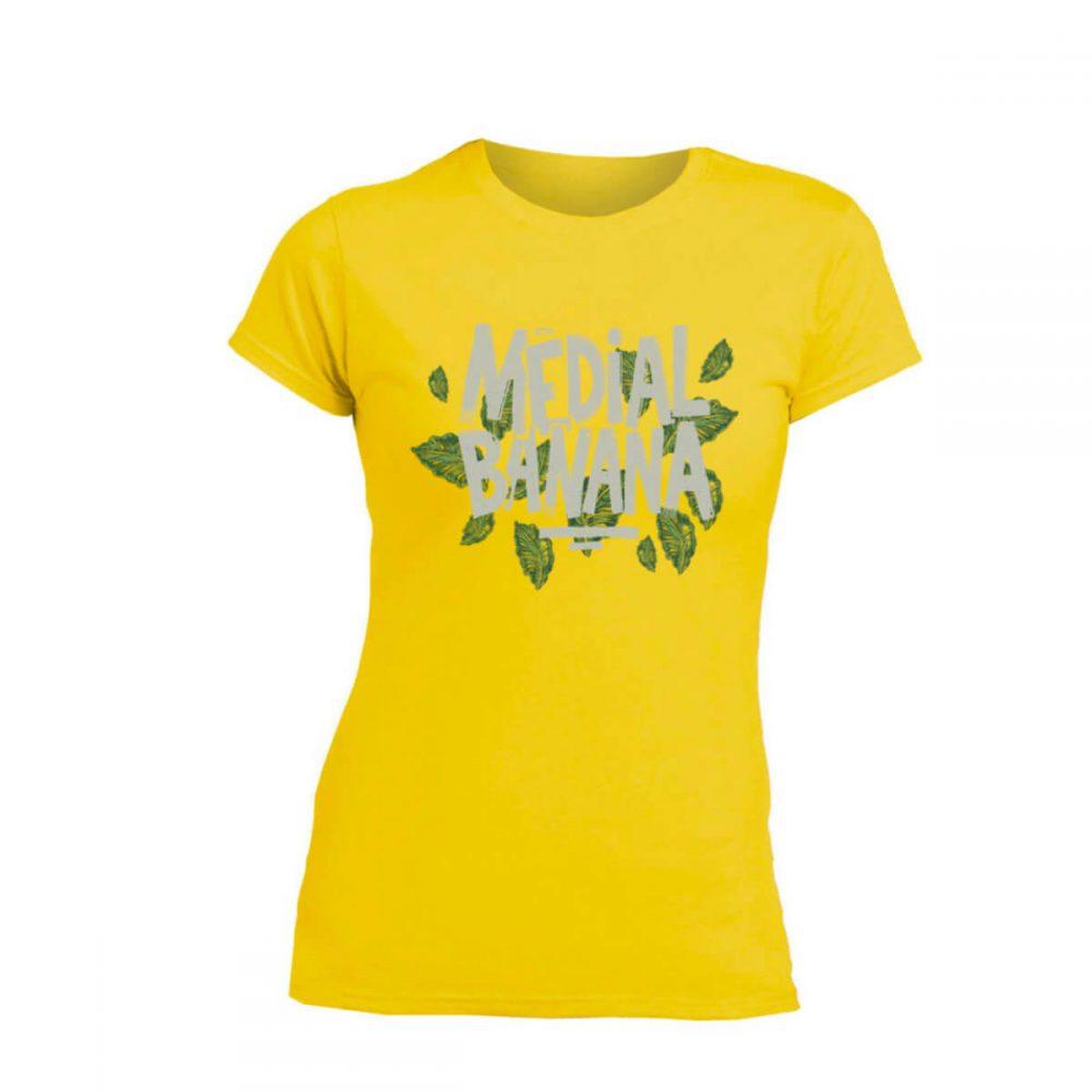 Dámske tričko Medial Banana Leafy žlté