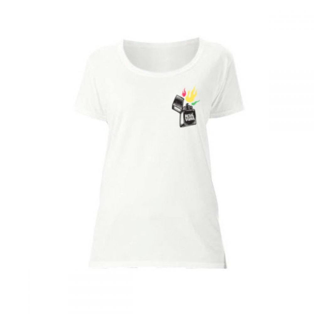 Dámske tričko Medial Banana Fayah Blaze biele