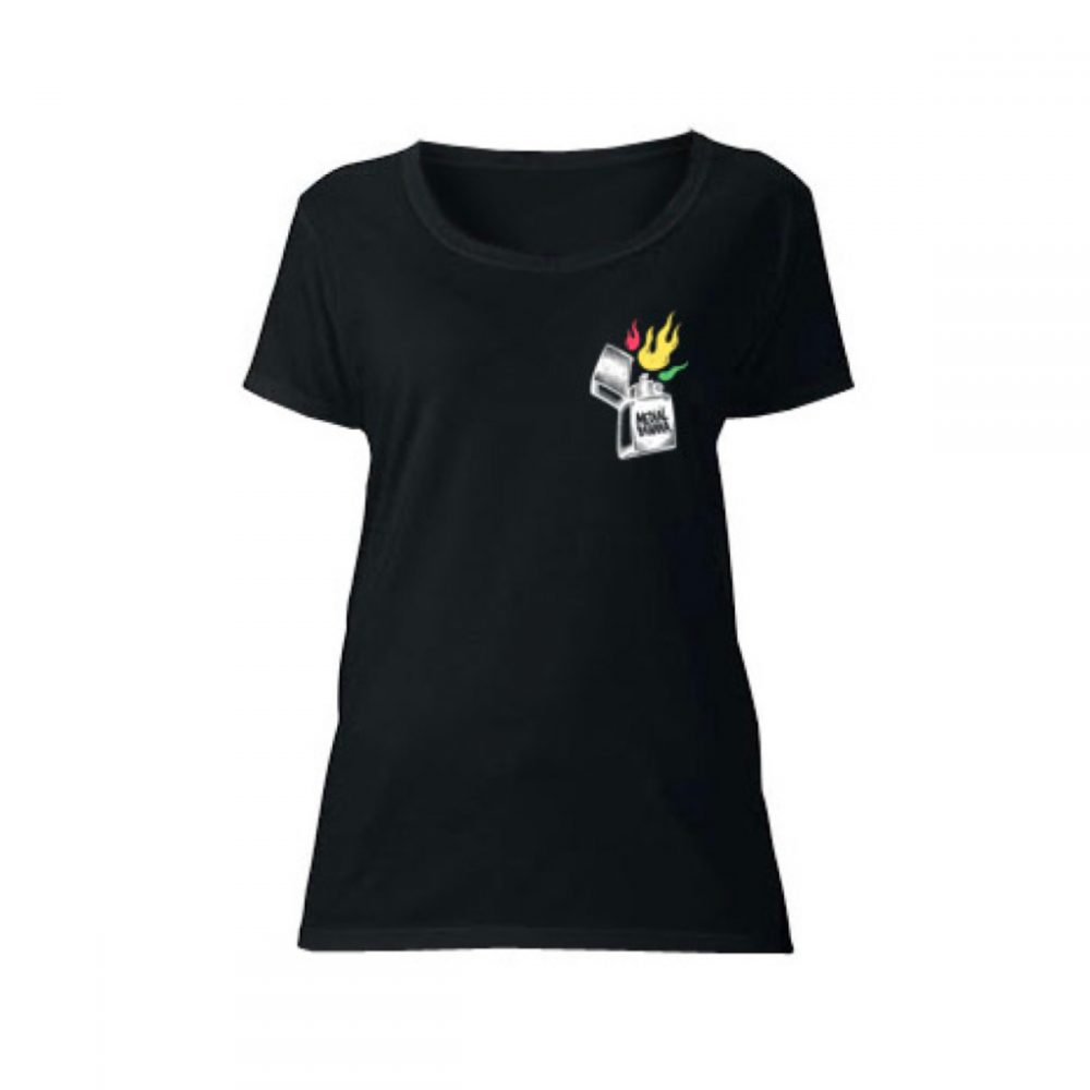 Dámske tričko Medial Banana Fayah Blaze čierne