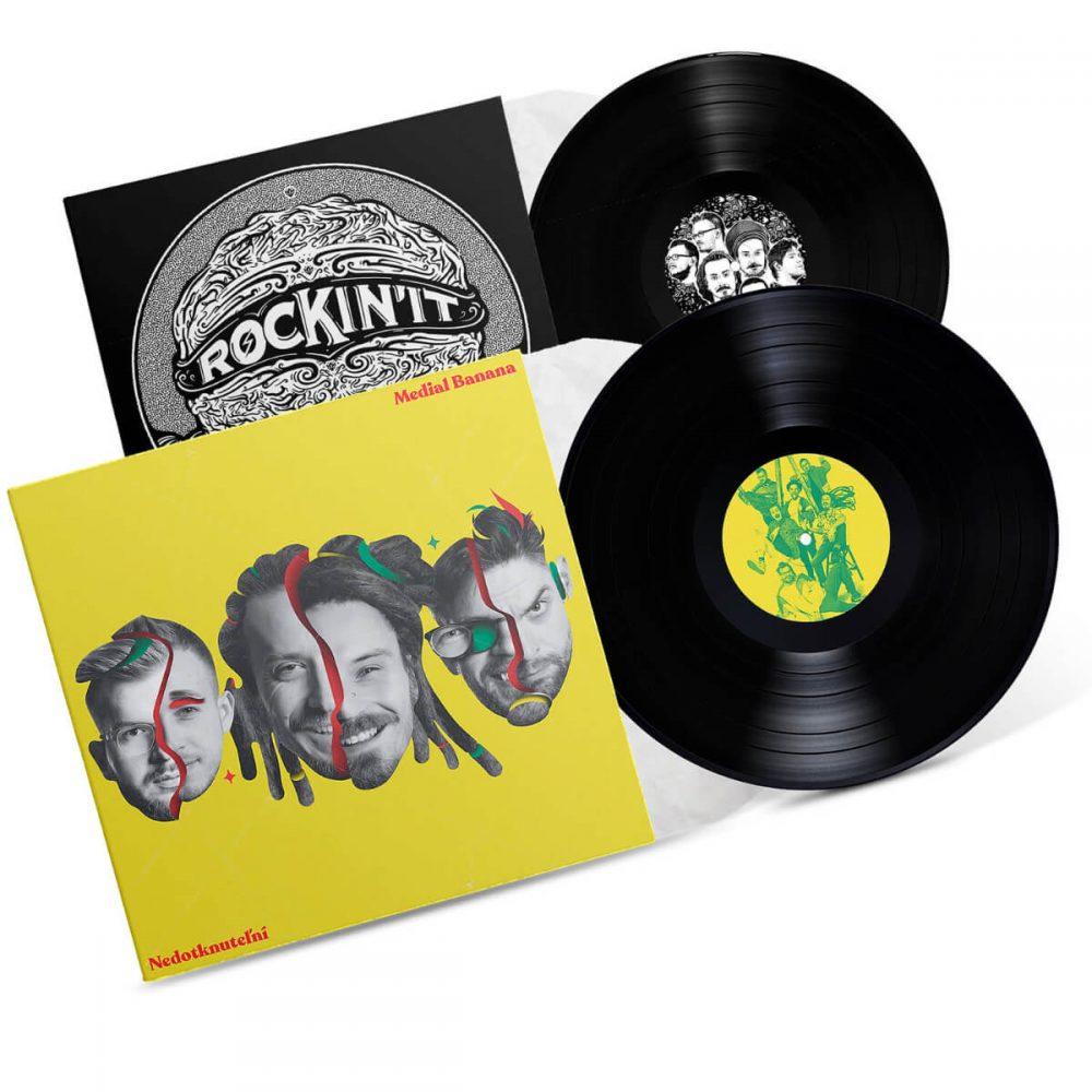 Medial Banana Vinyl Nedotknuteľní + Vinyl Rockin' It