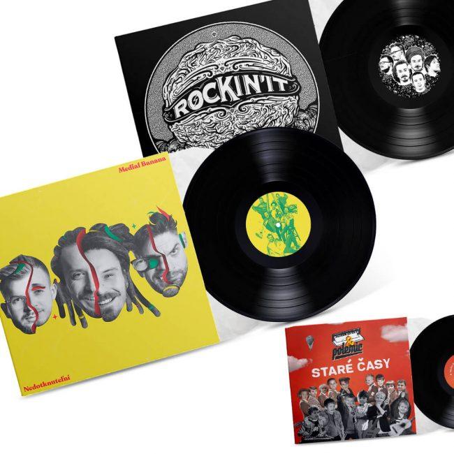 Medial Banana Vinyl Nedotknuteľní + Vinyl Staré Časy + Vinyl Rockin' It