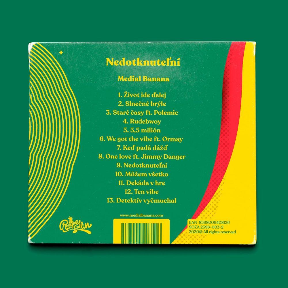 Medial Banana Nedotknuteľní rozložený zadná strana albumu